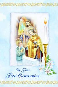 Boy Communion Greeting Card