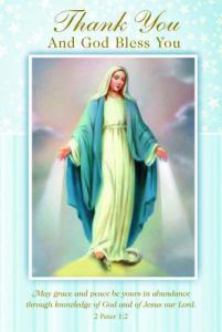 Thank You Our Lady Of Grace Greeting Card