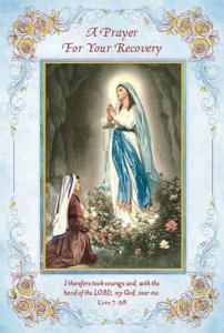Get Well Our Lady Of Lourdes Greeting Card