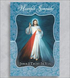Sympathy Jesus Chaplet Greeting Card