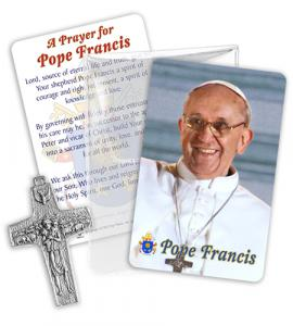 Pope Francis Cross In Viynl Pouch