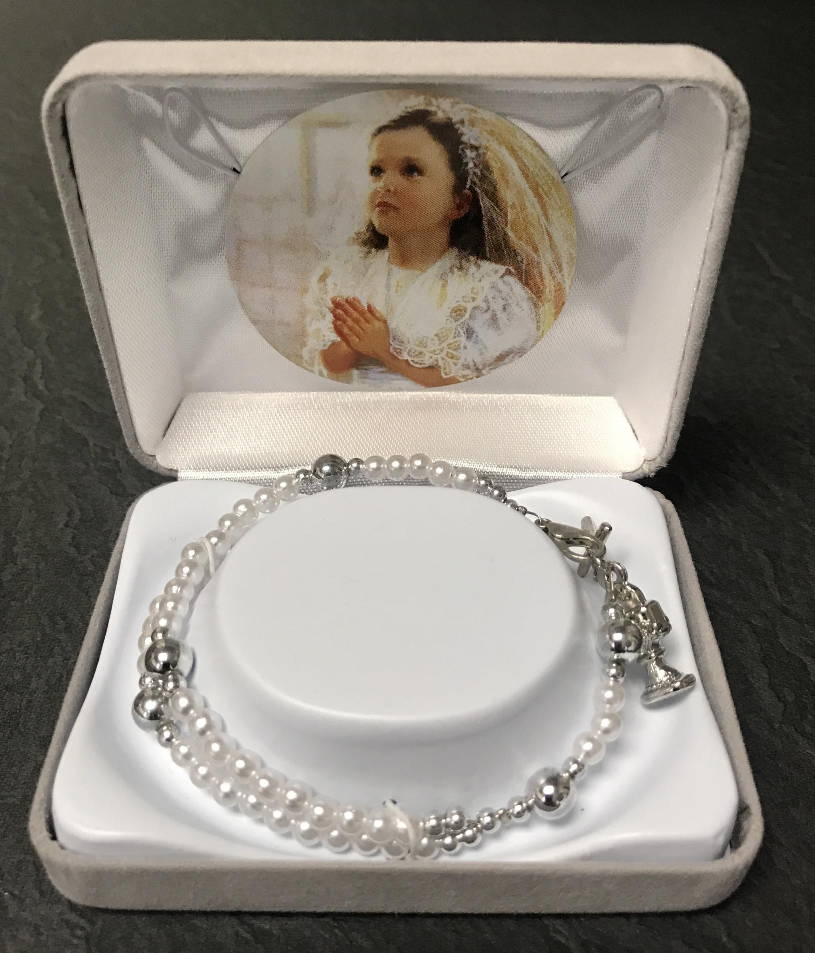 PEARL 59 BEAD FC BRACELET GIFT BOXED