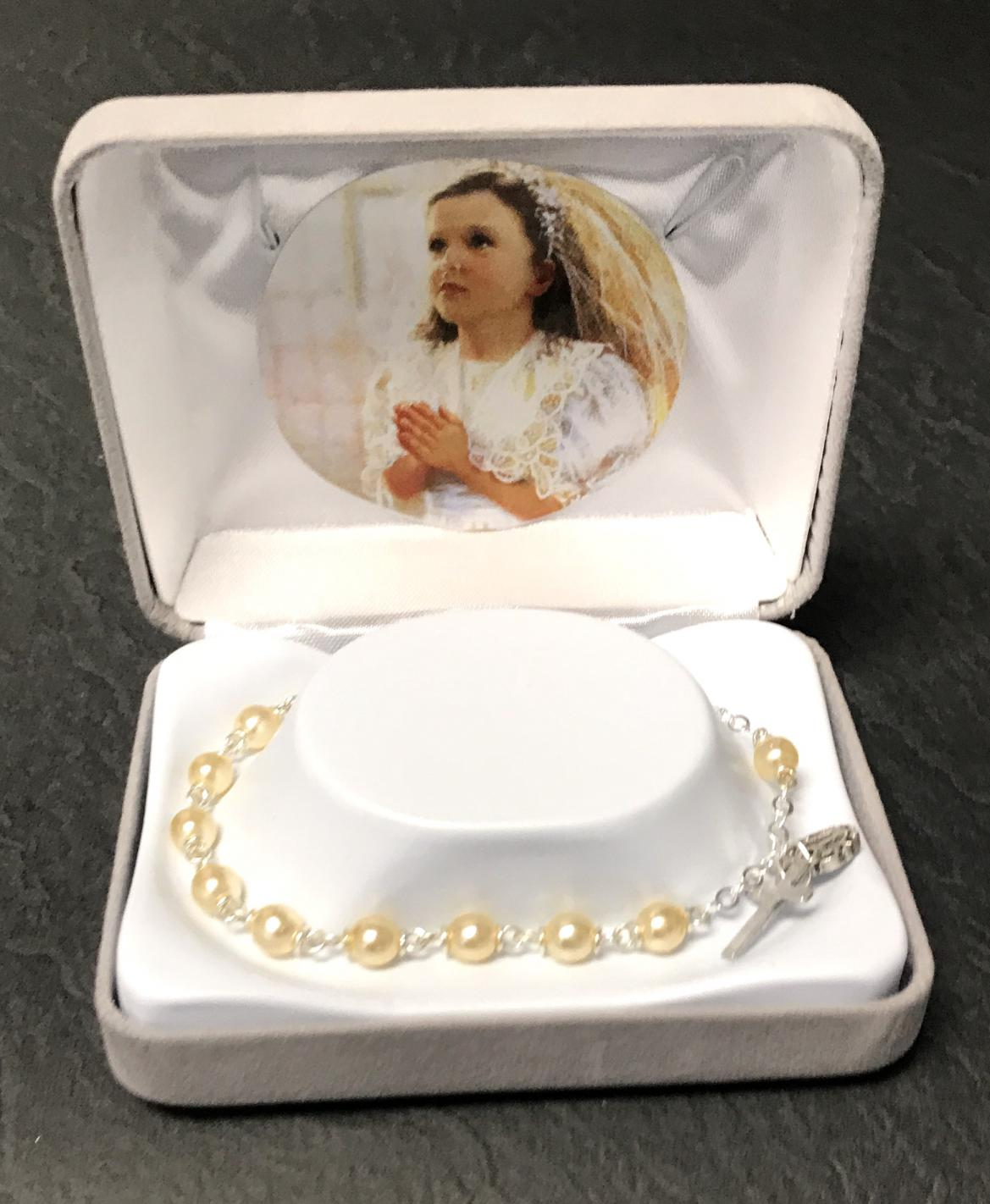 5mm ROUND PEARL FC BRACELET GIFT BOXED