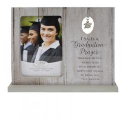 Graduation Prayer Standing Frame With Grad Cap Charm Boxed