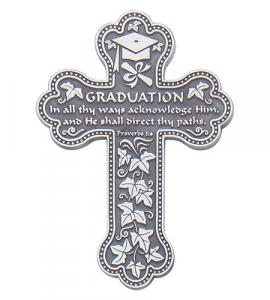 5.5in Graduation Message Wall Cross Gift Boxed Bright Finish