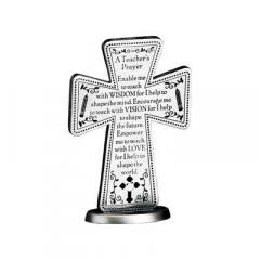 3in Teacher Standing Message Cross Gift Boxed
